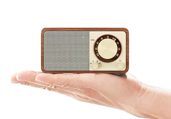 Sangean WR-7WL Mini Wooden Bluetooth Speaker with FM Radio