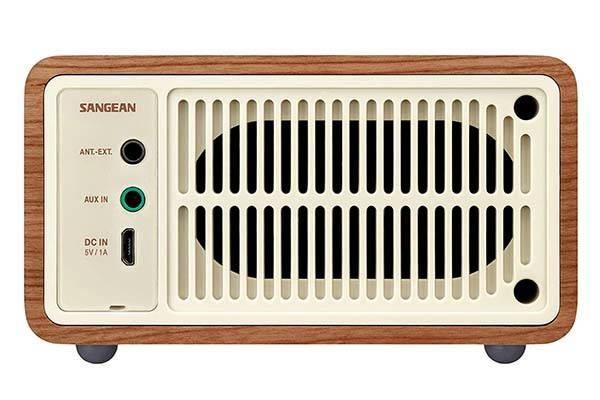 Sangean WR-7WL Mini Wooden Bluetooth Speaker with FM Radio