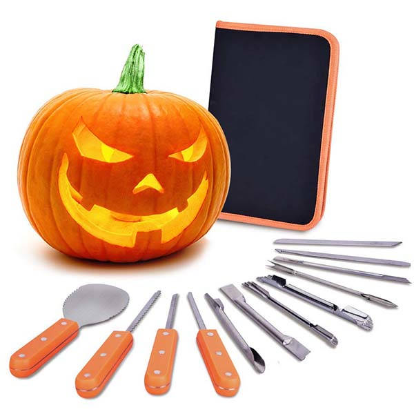 The Stainless Steel Halloween Pumpkin Carving Kit