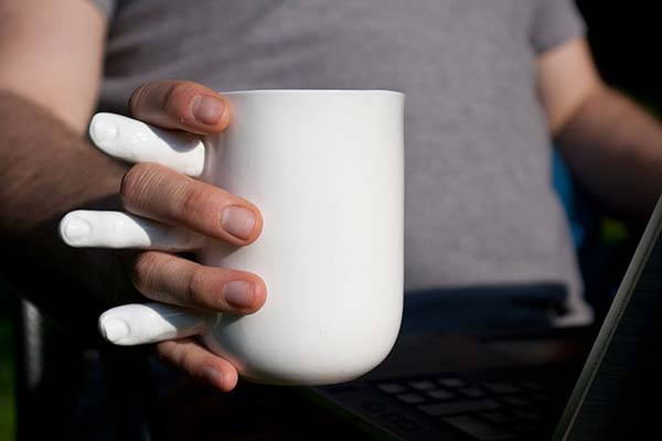 The Handmade Coffee Mug Wants to Hold Your Hand with Fingers