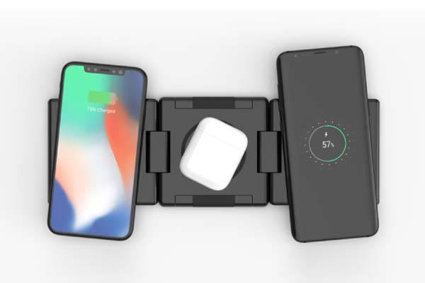 Unravel Portable Wireless Charging Station with USB-C PD Input