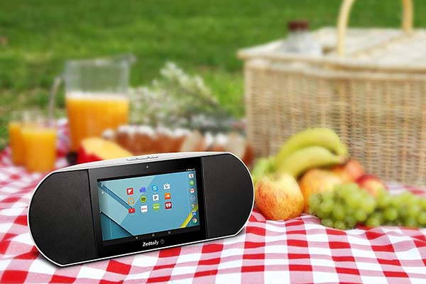 Zettaly Portable Smart Wireless Speaker with 7-Inch Display