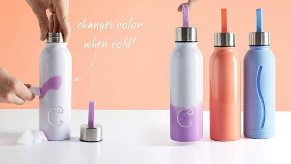 Chameleon Stainless Steel Color Changing Water Bottle