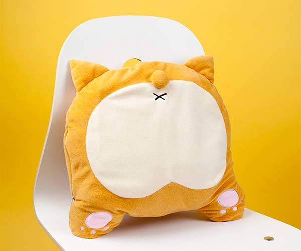 Corgi Backside USB Heated Pillow