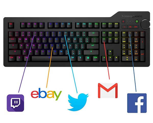 Das Keyboard 4Q RGB Smart Mechanical Keyboard with Two USB Ports
