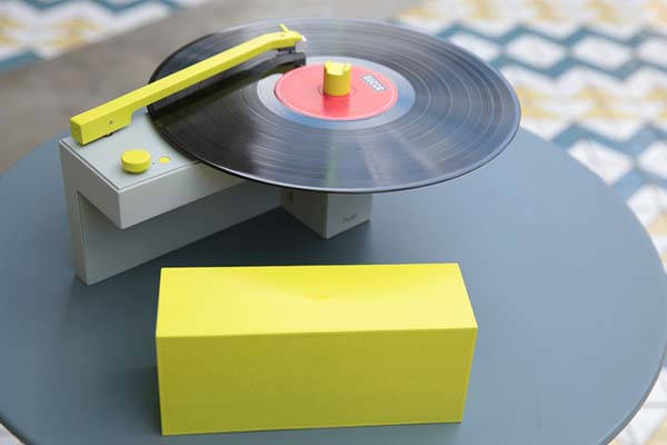 DUO Compact Turntable with Detachable Bluetooth Speaker and Amazon Alexa