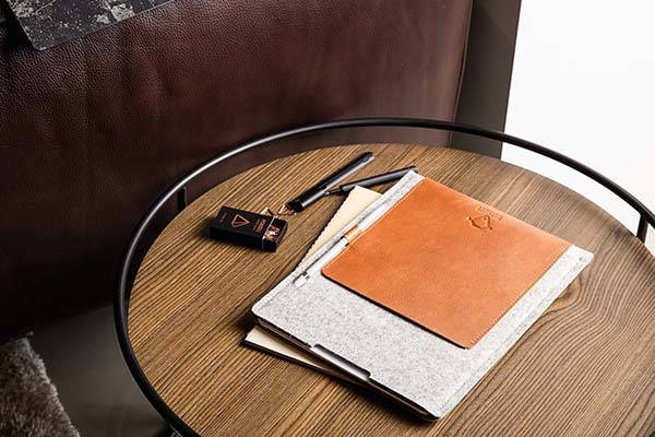 Handmade 2018 iPad Pro Sleeve with Leather Pocket and Apple Pencil Holder