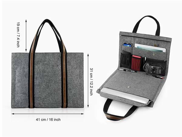 Handmade Felt Laptop Tote Bag for MacBook