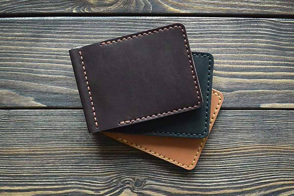 Handmade Personalized Leather Money Clip Wallet