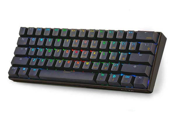 LeaningTech LTC-K61 61-Key Bluetooth Mechanical Keyboard with USB Connection
