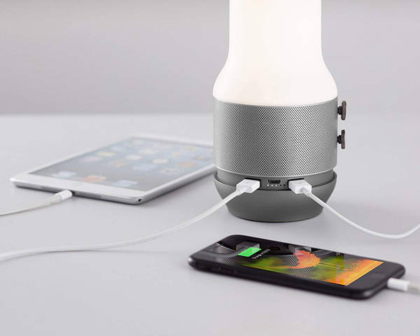 Lexon Terrace 3-In-1 Portable LED Lantern with Bluetooth Speaker and Power Bank