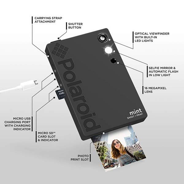 Polaroid Mint 2-In-1 Digital Instant Camera