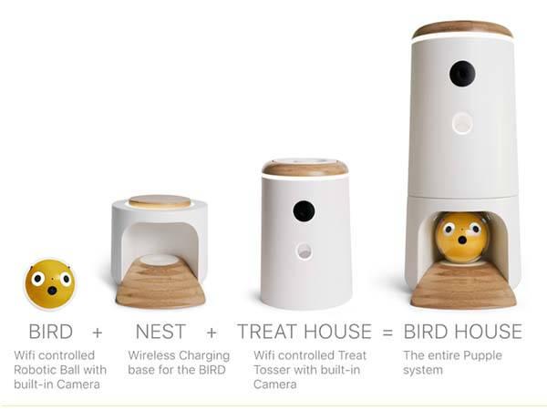 Pupple Smart Pet Toy with Detachable Treat Dispenser