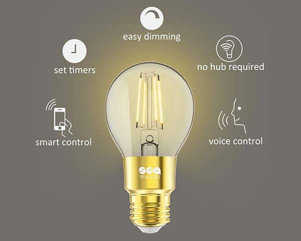 Sealight Smart WiFi LED Bulb Supports Amazon Alexa and Google Assistant