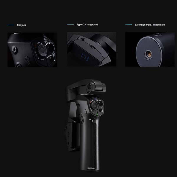 Snoppa Atom 3 Axis Foldable Gimbal for Smartphones and Action Cameras