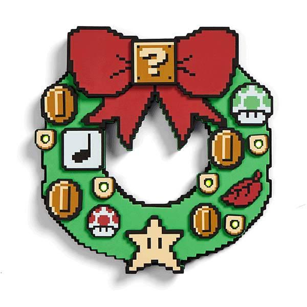 Super Mario LED Light-Up Wreath