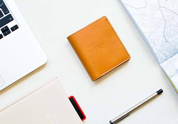 The GATE Handmade Customizable Slim Leather Wallet