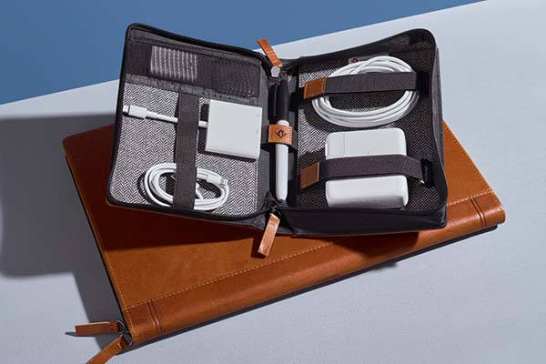 Twelve South Journal CaddySack Leather Travel Tote for Your Accessories