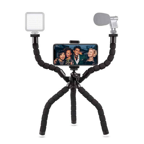 UBeesize Flexible Tripod with Two Detachable Arms and Bluetooth Remote Shutter