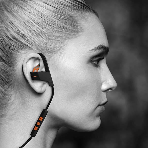 V-MODA BassFit Water-Resistant Wireless Sports Earbuds