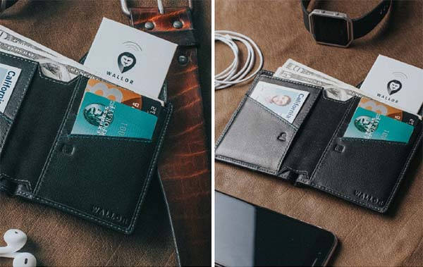 Wallor 2.0 RFID Leather Wallet with GPS Tracking