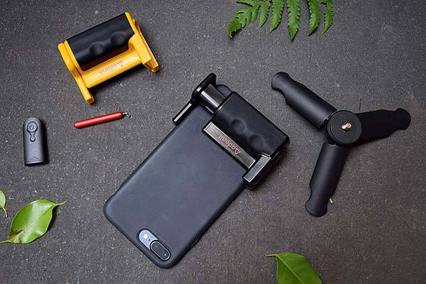 Adonit PhotoGrip Smartphone Grip with Bluetooth Shutter Remote and Tripod