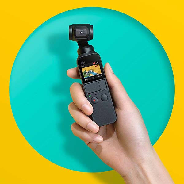 DJI Osmo Pocket Handheld Camera with 3-Axis Gimbal Stabilizer