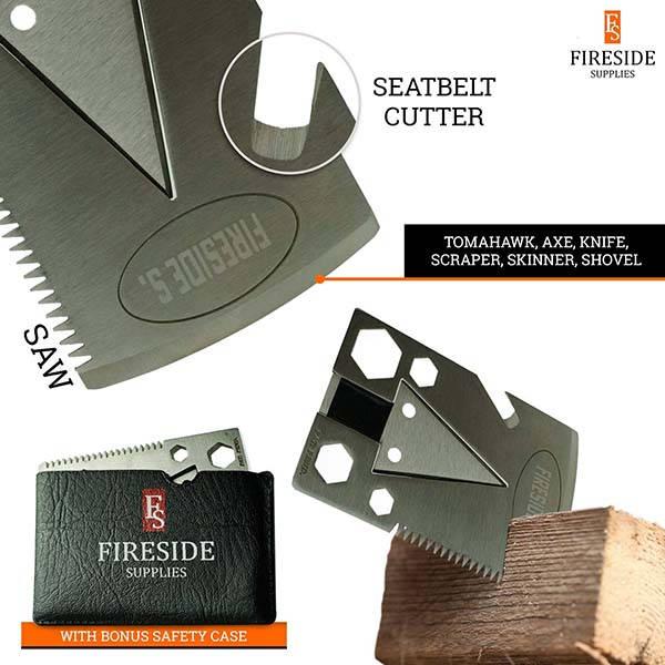 Fireside Supplies EDC Survival Multi-Tool Axe Card