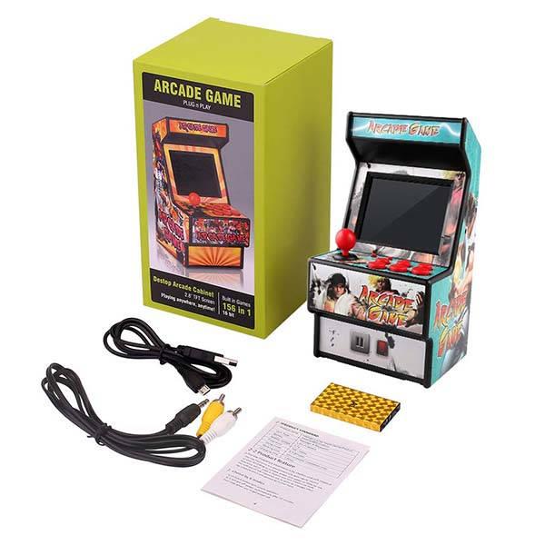 Golden Security Mini Arcade Machine with 156 Classic Games