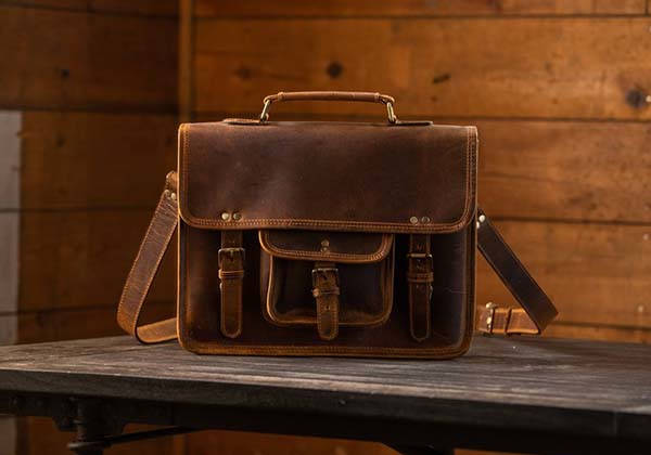 Handmade Buffalo Leather Satchel