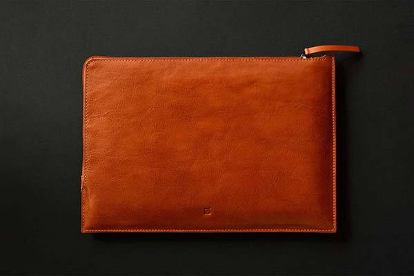 Handmade 11-Inch/ 12.9-Inch iPad Pro Leather Sleeve with Apple Pencil Slot