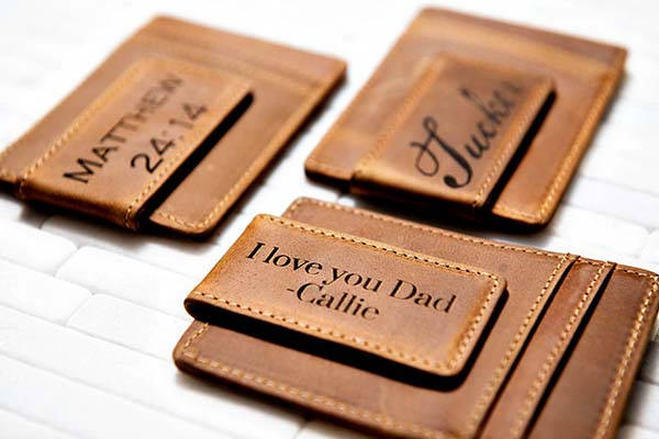 Handmade Personalized Leather Money Clip