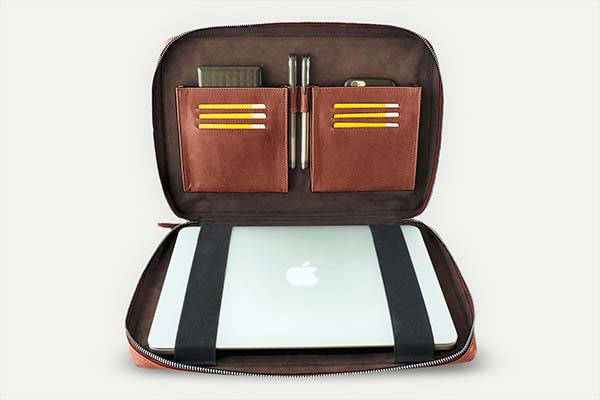Handmade Personalized MacBook Pro Leather Sleeve