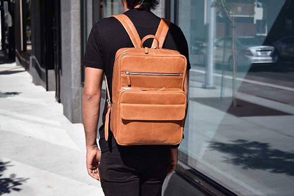 Handmade Personalized Unisex Leather Laptop Backpack