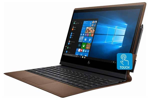HP Spectre Folio 2-In-1 Touchscreen Laptop with Leather Cover