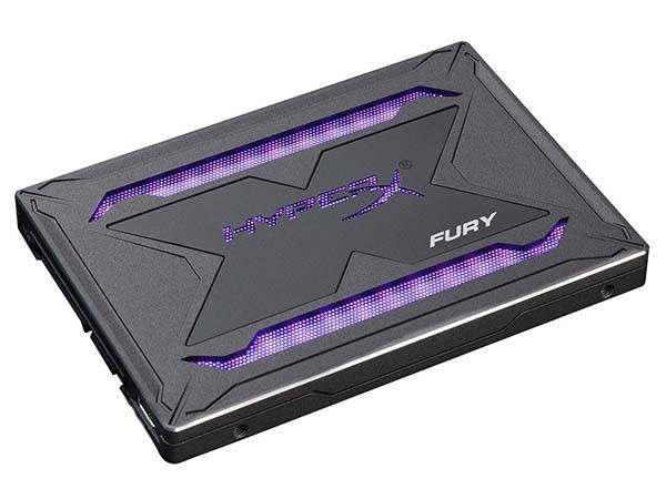 HyperX Fury RGB SSD with 3D NAND