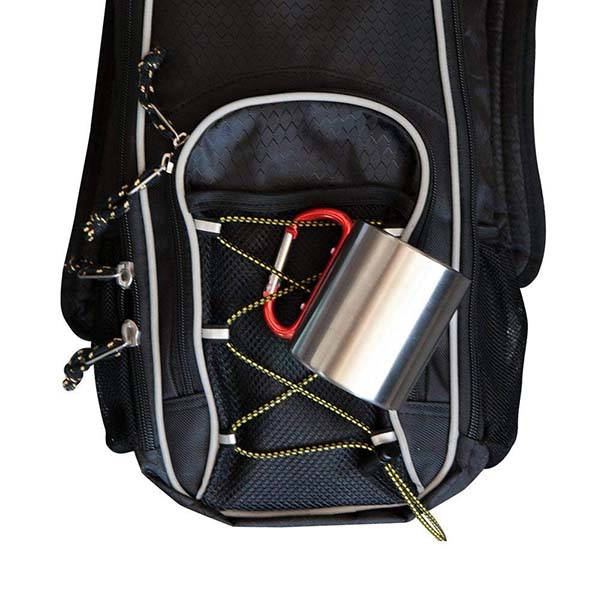 Life Gear Stainless Steel Double Walled Mug with Carabiner Handle