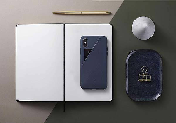 Native Union Clic Card iPhone XS Max Leather Case