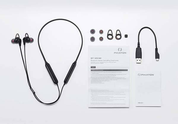 Phiaton BT 120 NC Active Noise Cancelling Bluetooth Earphones