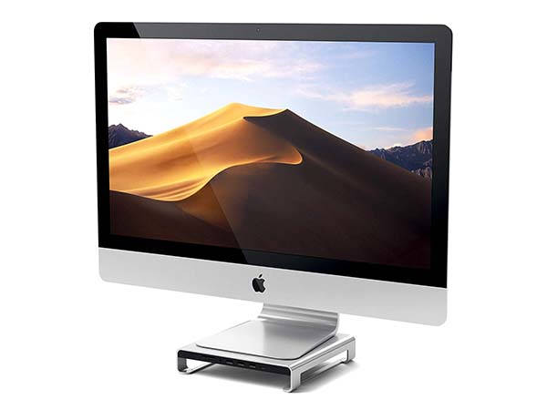Satechi Aluminum Monitor Stand with USB-C Hub