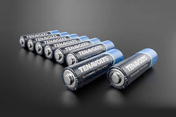 Tenavolts Rechargeable Lithium AA Battery with MicroUSB Charging Case