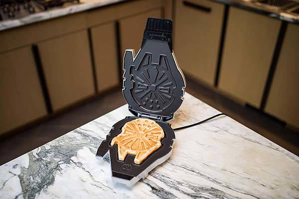 The Deluxe Star Wars Millennium Falcon Waffle Maker