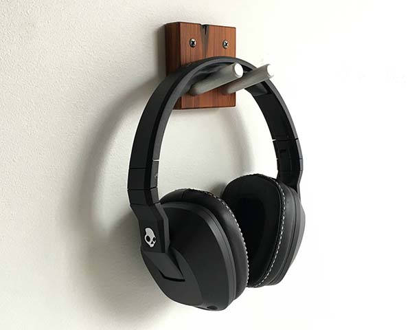 The Handmade Wooden Headphone Wall Hook