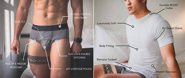 UltraSkin Nanofiber Underwear, Undershirt and Tees