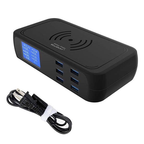 Veebon Wireless Charging Station with 6 USB Ports
