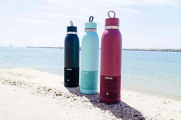 Aquio Double-Wall Stainless Steel Insulated Water Bottle with Bluetooth Speaker