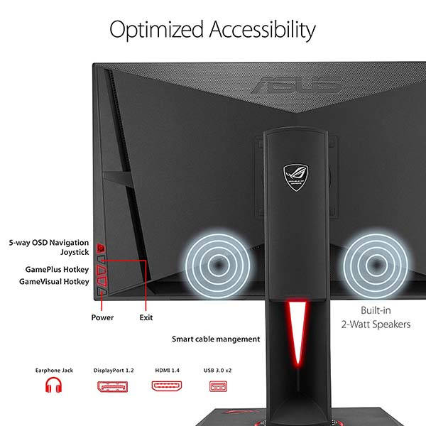 Asus ROG Swift 27-Inch WQHD Gaming Monitor with NVIDIA G-Sync Technology