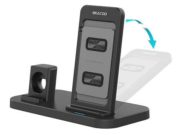Beacoo 2-In-1 Wireless Charging Station for iPhone and Apple Watch