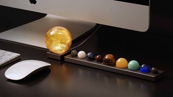 DeskSpace Handcrafted Solar Sun LED Mood Light