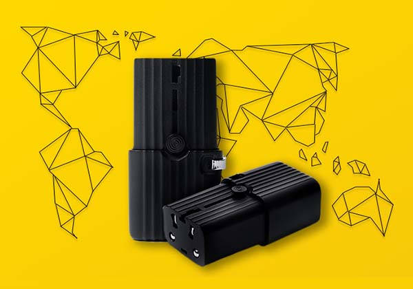 Evo Ultra Compact Global Travel Adapter with Two USB Ports